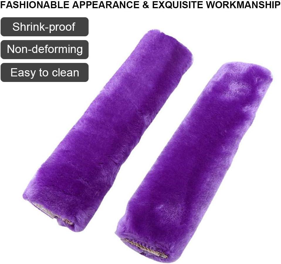 Comfortable Fabric SUV Truck Premiun Quality 2Pcs Car Seat Belt Cover Soft Seatbelt Shoulder Pads Purple Beige Black for Adults Women Kids Durable /& Adjustable Pads Purple Auto