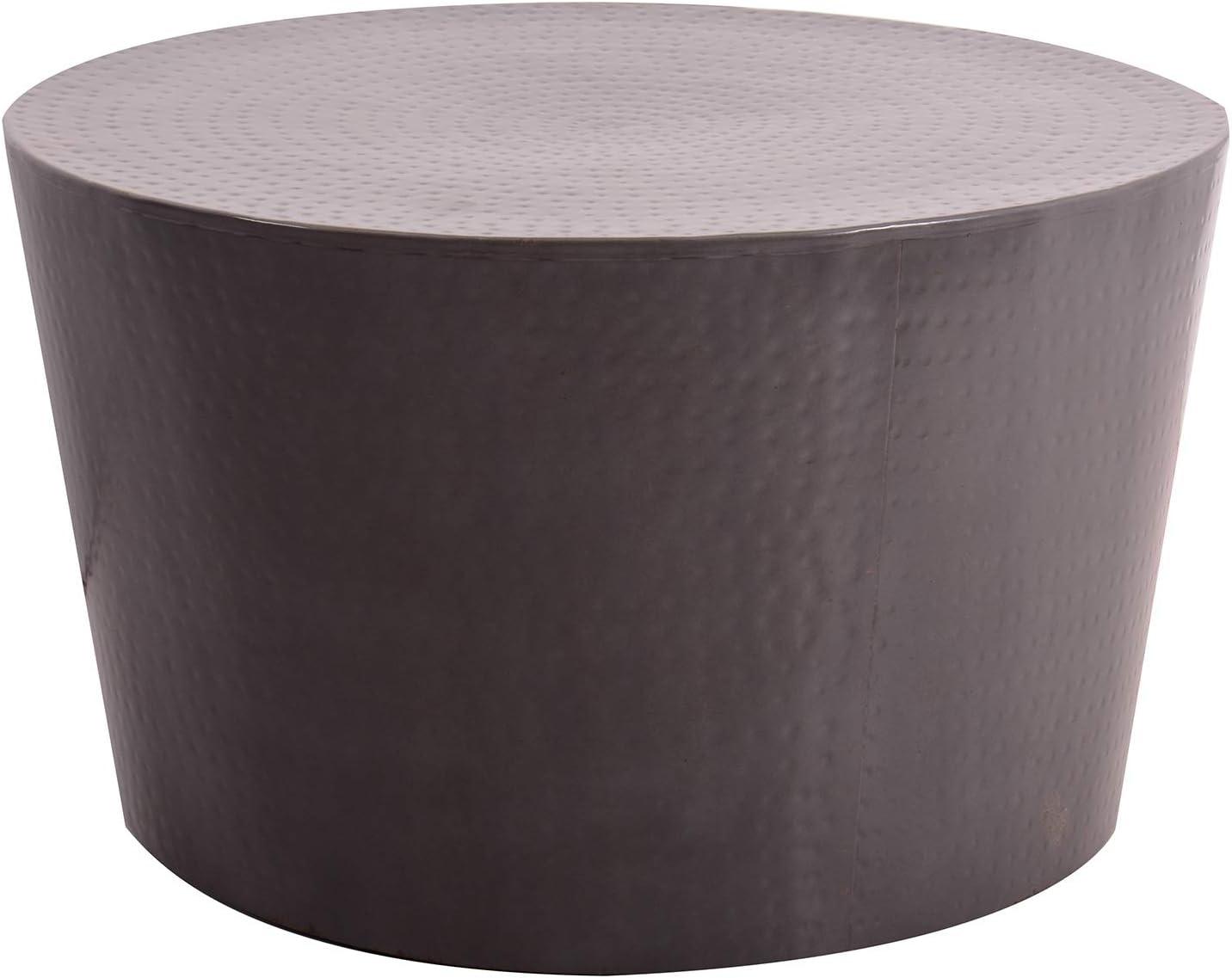 Tuoni Matai Tavolino da caff/è in Metallo martellato altezza 41 cm Bianco