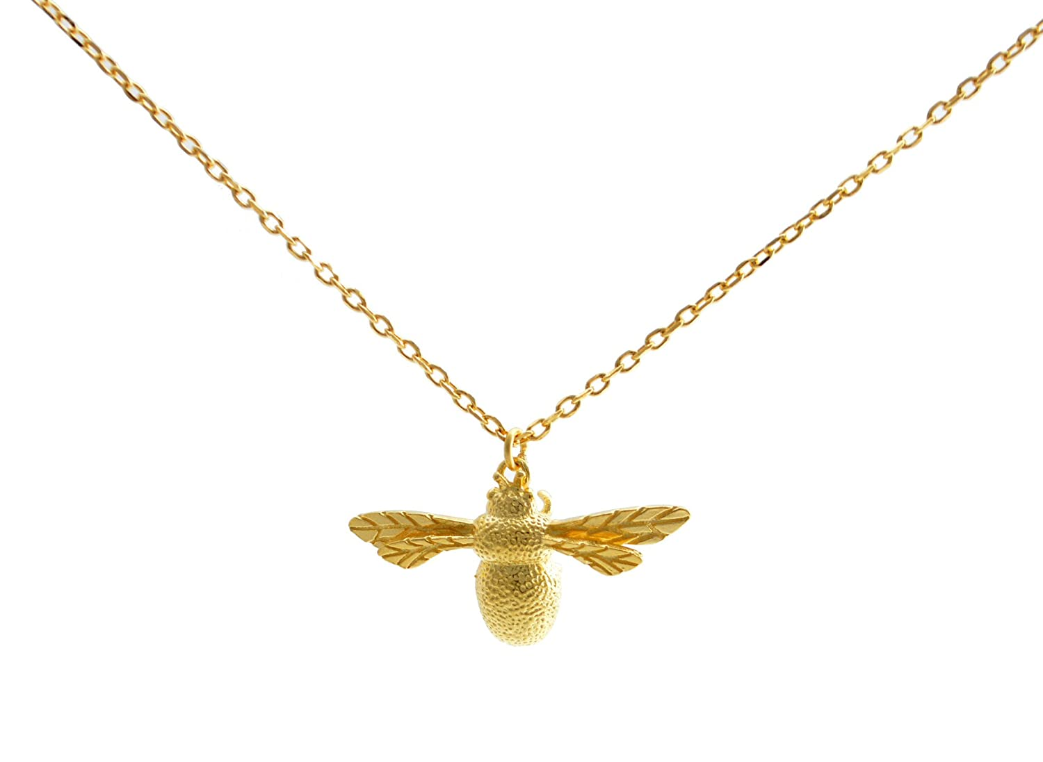 bee jewellery gold pendant bumble vintage necklace bonas oliver