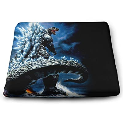 Godzilla Square Cushion Thick Large Soft Mat Floor Pillow Seating for Home Decor Garden Party for Chair Pads 15x13.7x1.2Inch: Office Products