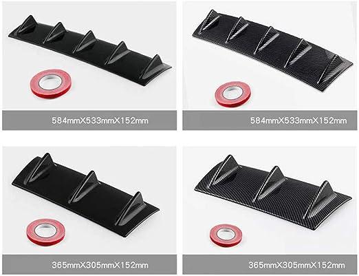 fish Universale del respingente Posteriore Lip diffusore ABS squalo Telaio deflettore Auto riparata Accessori