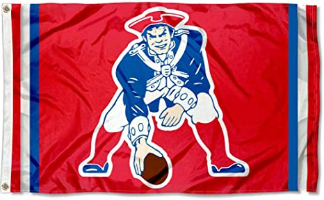 New England Patriots Two Sided Embroidered Nylon House Flag