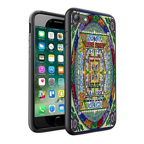 iPhone X Hülle, einzigartige Custom Design Prodective harte zurück dünner dünner Fit PC Bumper Case Kratzfeste Abdeckung für iPhone X - Mandala 0060