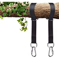 MONEIL Tree Swing Hanging Straps Kit Holds 2200 lbs,Two 5ft Straps with Safer Heavy Duty Carabiner and Swivel Hook,Perfect for Hammocks & Most Swing Seats - Your Baby, Toddler, Kids Safety First