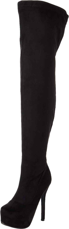 Details about  /Europe Women Outdoor Thigh Heel Stretch Overknee Long Knight Boots Winter Warm L