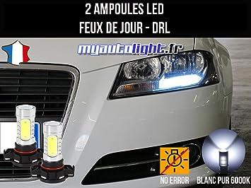 Pack de luces de circulación diurna LED de color blanco xenón (compatibilidad no garantizada con vehículos con conductor izquierdo): Amazon.es: Coche y moto