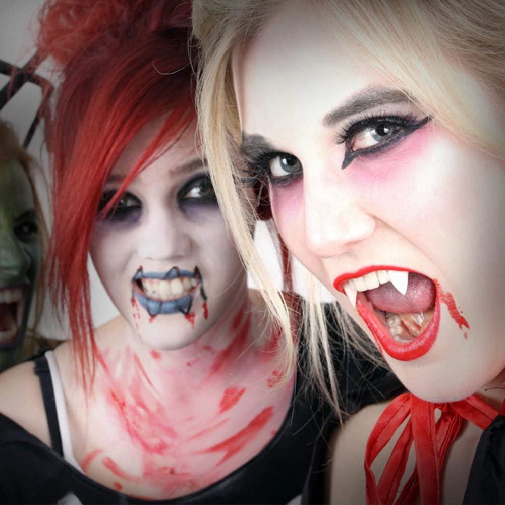 Paar Vampirzähne Dracula Zähne Werwolf Reißzähne Halloween Dämon Kostüm Party