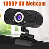 Full HD Webcam 1080p, USB Streaming Webcam, Computer Laptop Camera with Microphone, Digital USB Video Recorder for Streaming, Conferencing, Video Chatting, Webinars, Gaming, Distance Learning