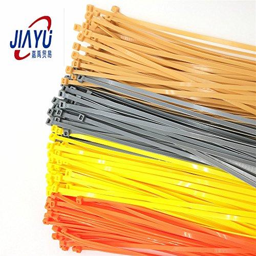 Joy 12 Inch Heavy Duty Nylon Cable Zip Ties 100 Pack Golden