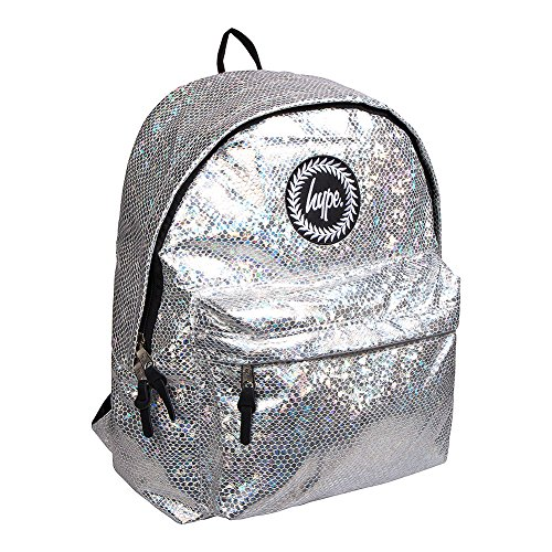 Glitter Hype Snake Silver Bag Rucksack Backpack ITpT61