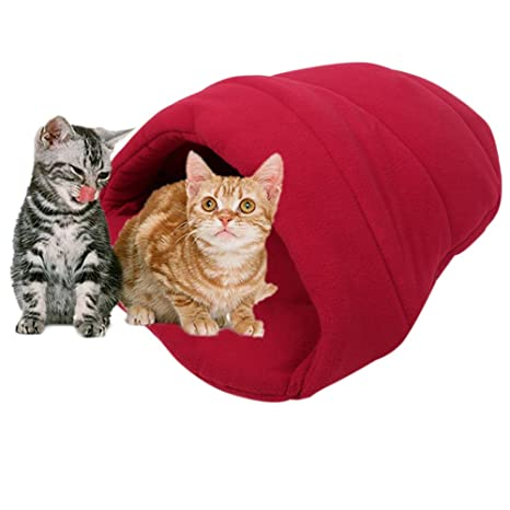 Saco de dormir para mascotas, cálido y suave, para gatos pequeños y perros