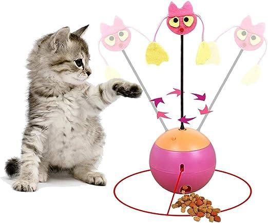 3 en 1 Tumbler interactivo multifuncional Juguete para gatos Bola ...