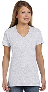 9023837d Amazon.com: Hanes Women's Relaxed Fit ComfortSoft V-Neck T-Shirt ...