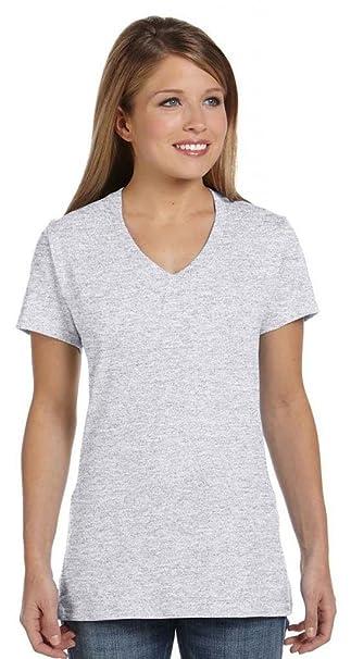 52cb662346 Hanes Women s Nano-T V-Neck T-Shirt  Amazon.co.uk  Clothing