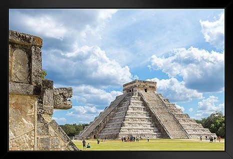 Mexico Landscapes Ancient Ruins Vintage World Travel Art Poster Print