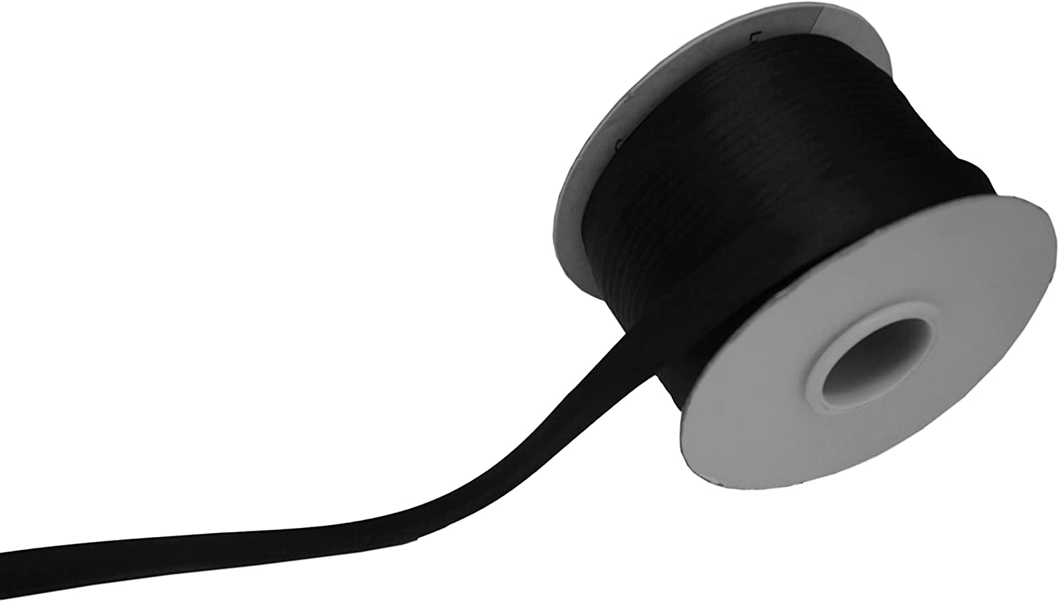 Satin Bias Tape Bias Binding Solid Color for DIY Garment Sewing and Trimming Black 15mm 50yard Polyester 5//8