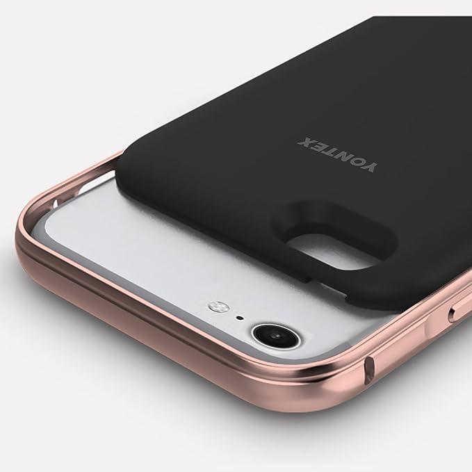 yontex iPhone 7 Funda Caso Charing de batería Ultra delgada Extended Battery Case Cargador portátil para iPhone 7 solo con 3200 mAh capacidad 160% ...