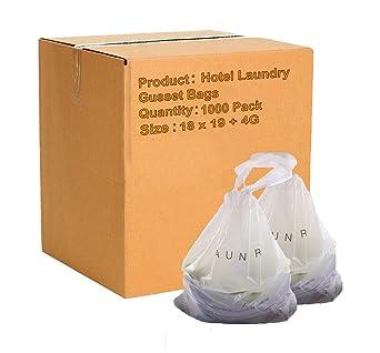 Amazon.com: APQ - Lote de 1000 bolsas para colada de hotel ...
