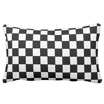 Amazoncom Emvency Throw Pillow Cover Black White Checkered