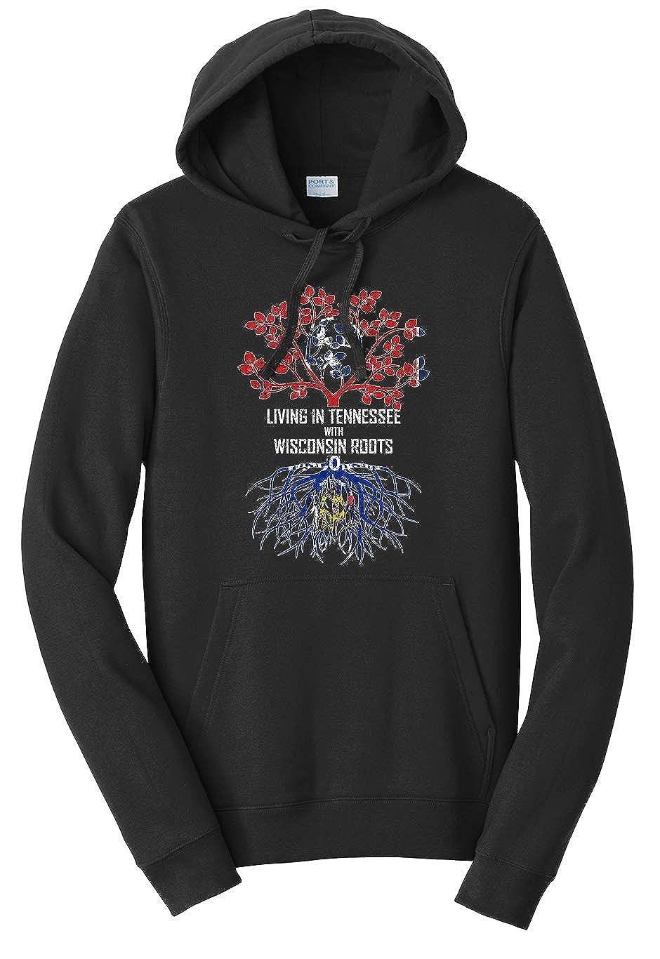 Tenacitee Unisex Living in Tennessee Wisconsin Roots Sweatshirt