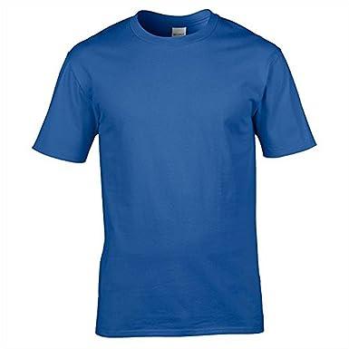 2489ef69c7d023 GILDAN Men's Premium Cotton T-Shirt Euro-fit Shoulder and Armhole 100%  Cotton