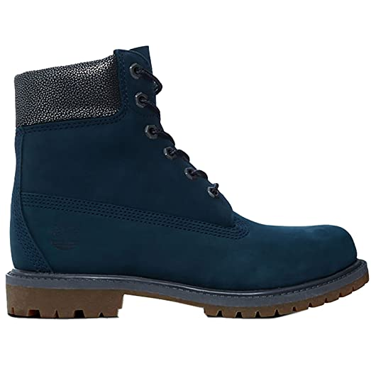 7d9c7e6ccd85c Amazon.com | Timberland Womens Icon 6 Inch Premium Blue Nubuck Boots ...