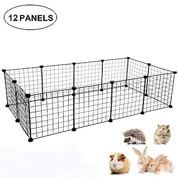 Jaula pequeña para mascotas, valla y caseta, caja de juguete para mascotas, caja pequeña para animales DIY portátil: Amazon.es: Productos para mascotas