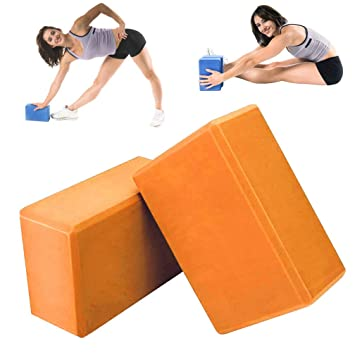 Yoga & Pilates 2Pcs Pilates Yoga Block Foaming Foam Brick Exercise Fitness Stretching Aid Gy QW Fitness & Jogging
