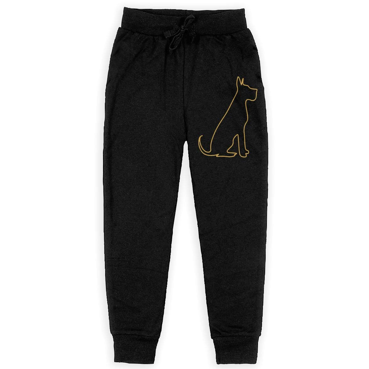 Youth Active Pants for Teen Boy Pitbull Silhouette Soft//Cozy Sweatpants