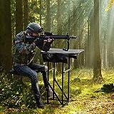 GYMAX Foldable Shooting Table Seat Set, Height