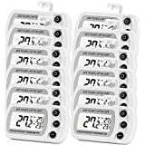 12 Pack Digital Refrigerator Freezer Thermometer,Max/Min Record Function with Large LCD Display