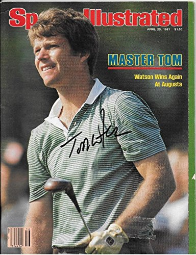 Tom Watson Signed Autographed Auto 1981 Masters SI Sports Illustrated