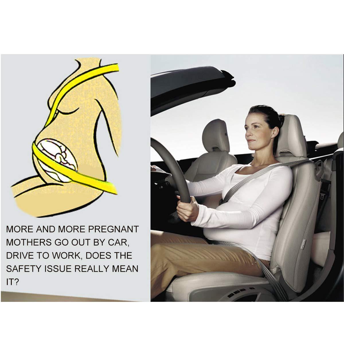 MEIMEI Bump Belt Schwangerschafts-Sicherheitsgurt f/ür Schwangerschaft Autositzgurt Bauch und sch/ützen ungeborenes Baby. verstellbar f/ür Schwangere M/ütter