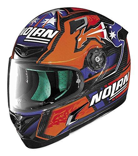 X-lite XF-1-XT0085 X-802RR Nolan Stoner Replica Helmet, Distinct Name: Stoner, Gender: Mens/Unisex, Primary Color: Orange, Helmet Type: Full-face Helmets, Helmet Category: Street, Size: 2XL