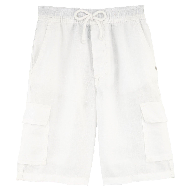 Vilebrequin - Linen bermuda shorts - Boys - 14 years - White