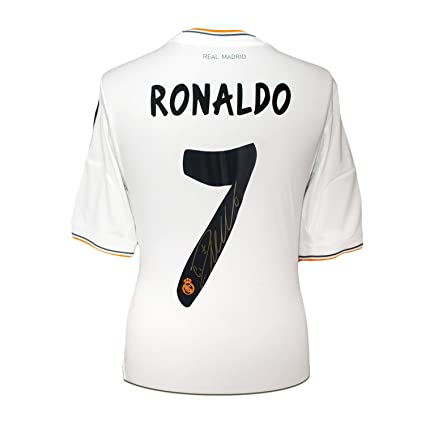 2ab8d1a2fbd Cristiano Ronaldo Signed Real Madrid Soccer Jersey at Amazon s Sports  Collectibles Store