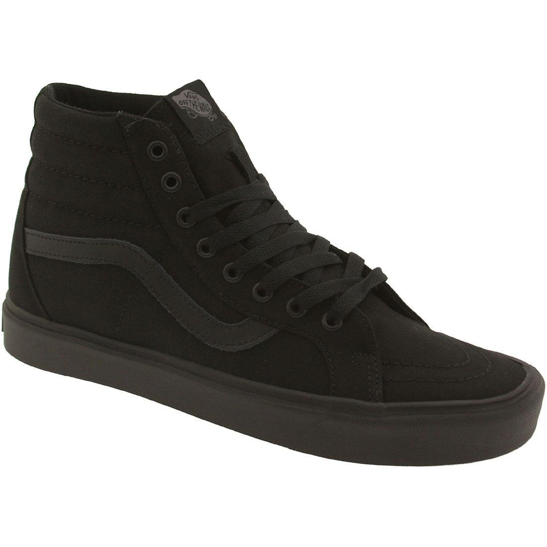 Vans Unisex-Erwachsene Sk8-Hi Lite Plus Low-Top  35 EU|Schwarz (Canvas/Black/Black)