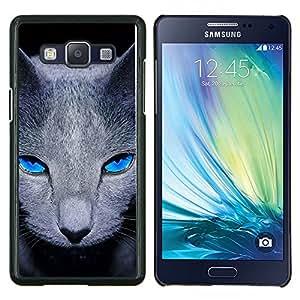 EJOOY---Cubierta de la caja de protección para la piel dura ** Samsung Galaxy A5 A5000 ** --Gris British Shorthair gato de los ojos azules