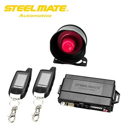 Amazon.com: Steelmate Car Alarm System 888E Two Way LCD Car ...