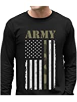 Big USA Army Flag - Gift For Soldiers, Veterans Military Long Sleeve T-Shirt