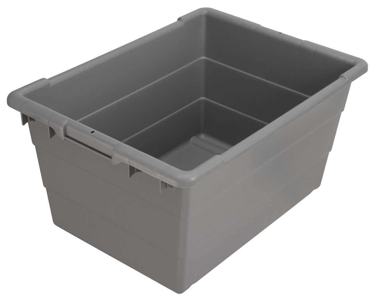Akro-Mils 34304 Cross-Stack Plastic Tote Tub, 24-Inch by 17-Inch by 12-Inch, Case of 6, Grey