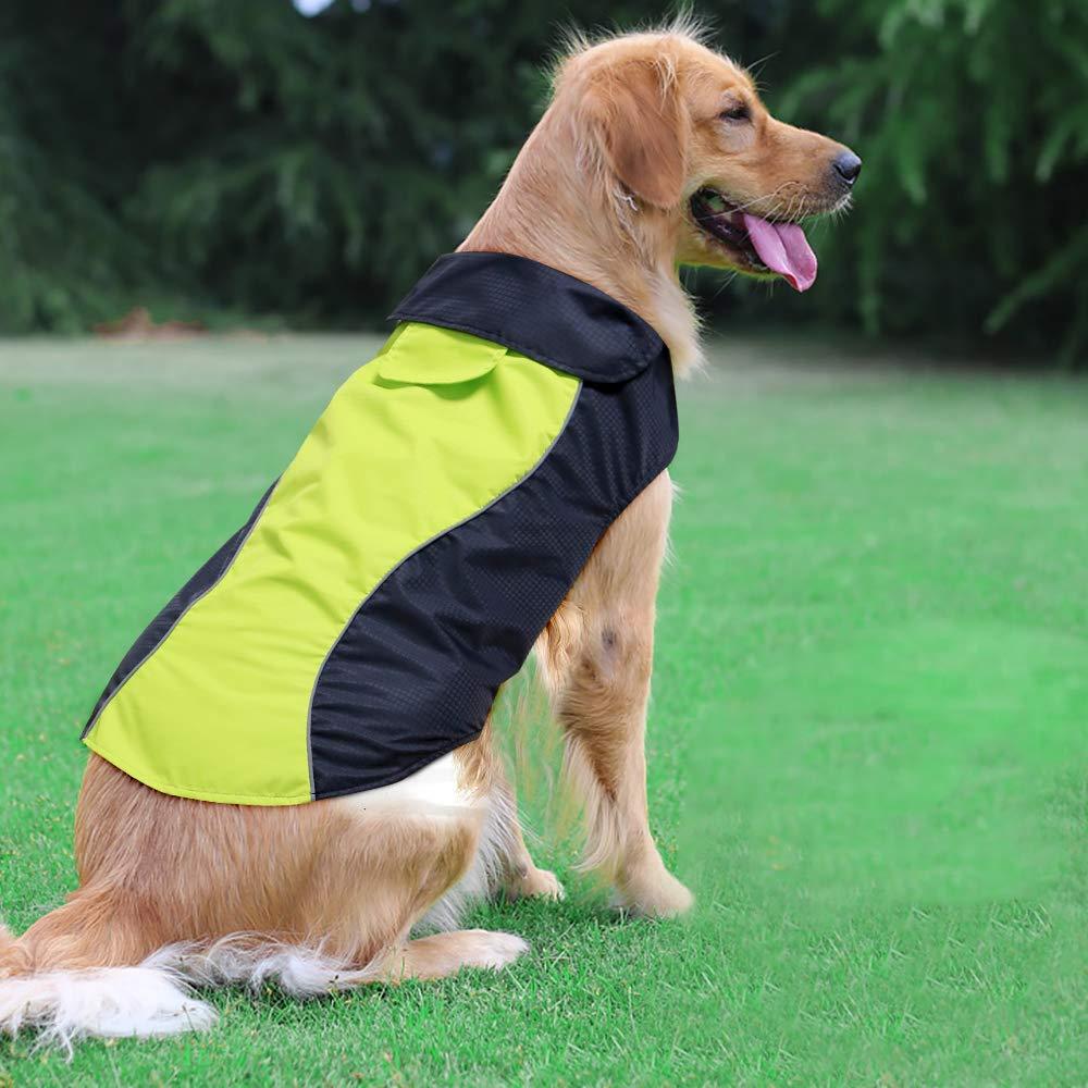 Ezer High Visibility Dog Raincoat (XXL)
