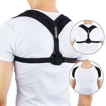 HailiCare Posture Corrector - Adjustable Clavicle Support Upper Back Brace  - Shoulder Support Brace - Computer