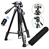 "Torjim 60"" Camera Tripod with Carry Bag, Lightweight Travel Aluminum Professional Tripod Stand (5kg/11lb Load) with…"
