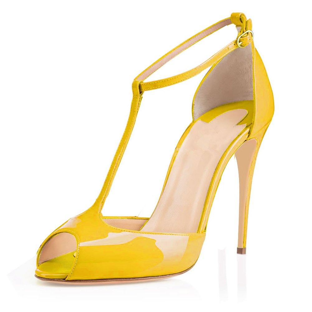 EDEFS Femmes Talons Hauts Bout Ouvert Sandales,Plateforme Chaussures,Femme Escarpins
