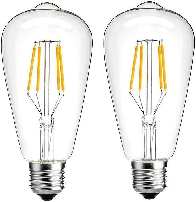 40 Watt Equivalent ST64 LED Dimmable Light Bulb Warm White Set of 4 2700K