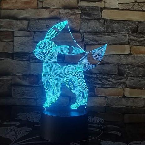 wangZJ Pokemon Go Figura de acción Lámpara 3D 7 colores Cambiar ...