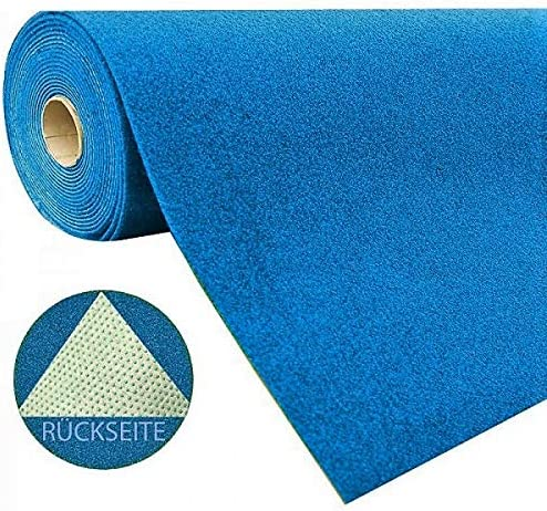 Gr/ö/ße:200 x 250 cm Rot Blau Grau Braun Beige oder Anthrazit wasserdurchl/ässig Meterware Farbe:Blau Balkon Terrasse Camping havatex Rasenteppich Kunstrasen mit Noppen 1.550 g//m/²