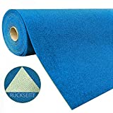 Artificial Grass Carpet Custom-Made with Tufts 1,550 gsm, Tested for Hazardous Substances Easy to Clean Dirt Resistant Robust Heavy Duty Balcony Terrace Garden Camping, Color:Blue, Size:133 x 50 cm