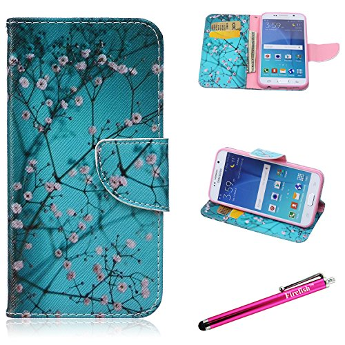 - Galaxy S6 Case, Firefish [Kickstand] [Bumper] Case Flip PU Leather Wallet with Card Slot Scratch resistant Magnetic Closure Protect for Samsung Galaxy S6 - Prunus Mume
